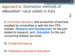 approach a estimation methods of education value added in italy 2