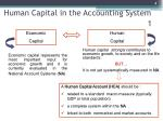human capital in the accounting system 1