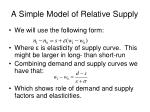 a simple model of relative supply