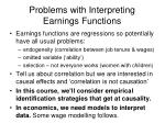 problems with interpreting earnings functions