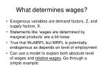 what determines wages