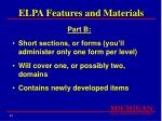 elpa features and materials31