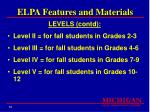 elpa features and materials33