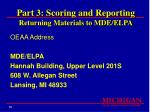part 3 scoring and reporting returning materials to mde elpa92