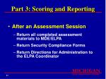 part 3 scoring and reporting87