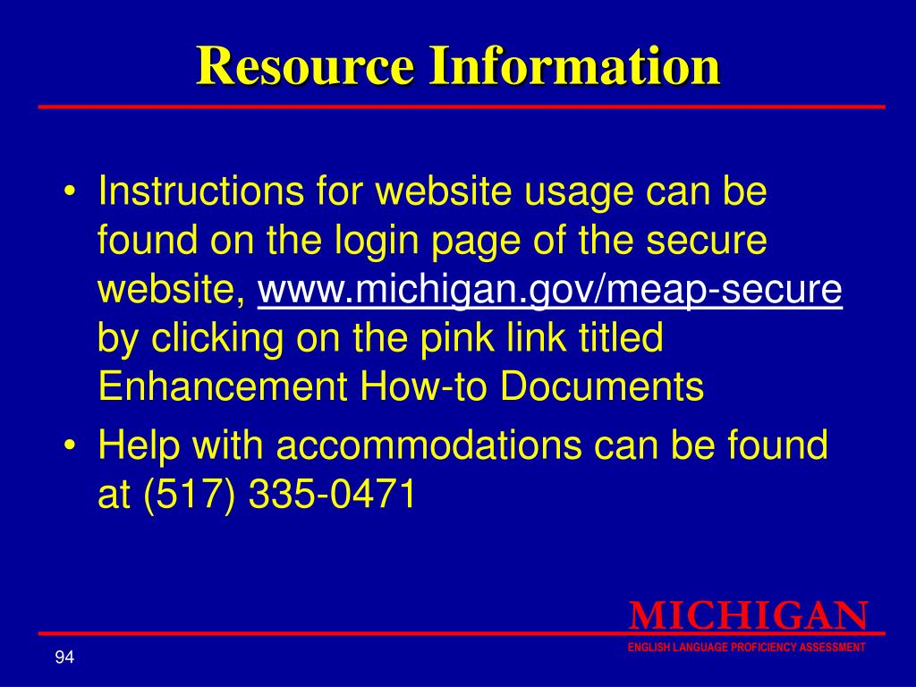 Resource Information