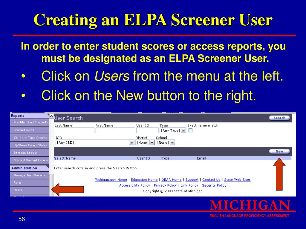 Creating an ELPA Screener User