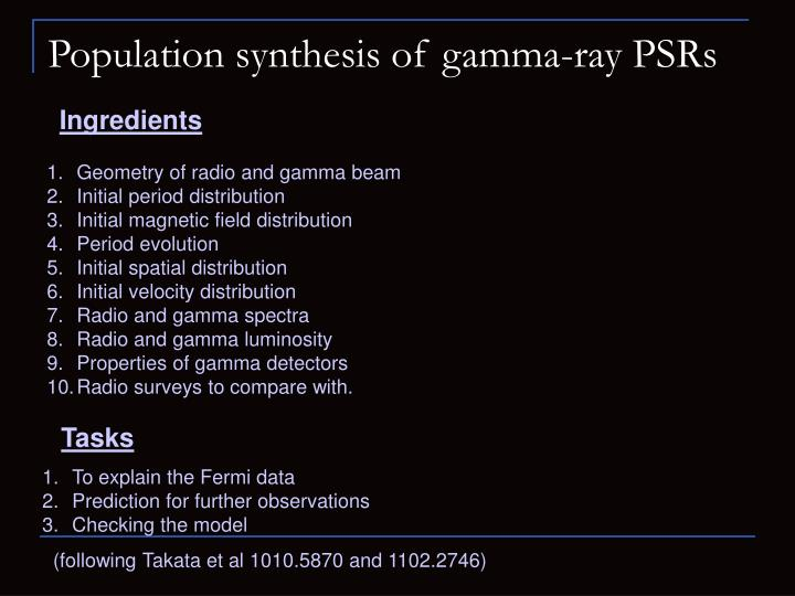 Population synthesis of gamma-ray PSRs