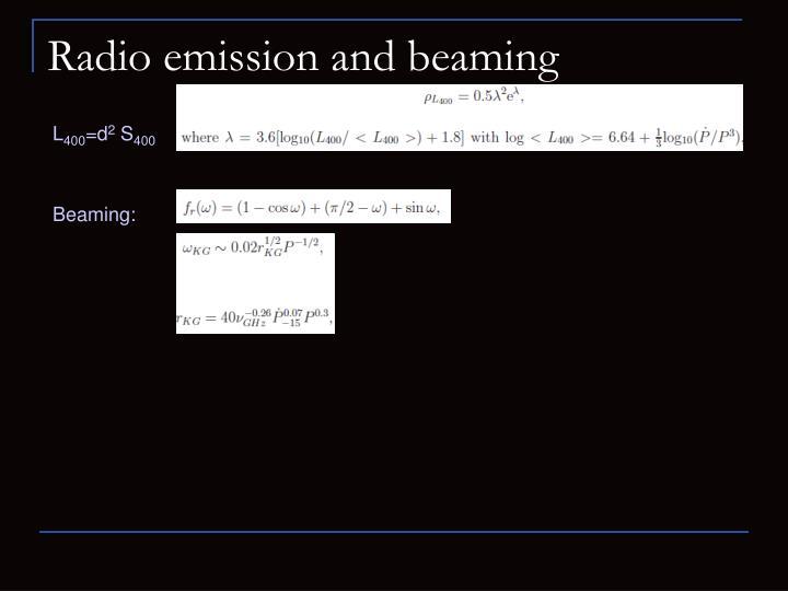 Radio emission and beaming