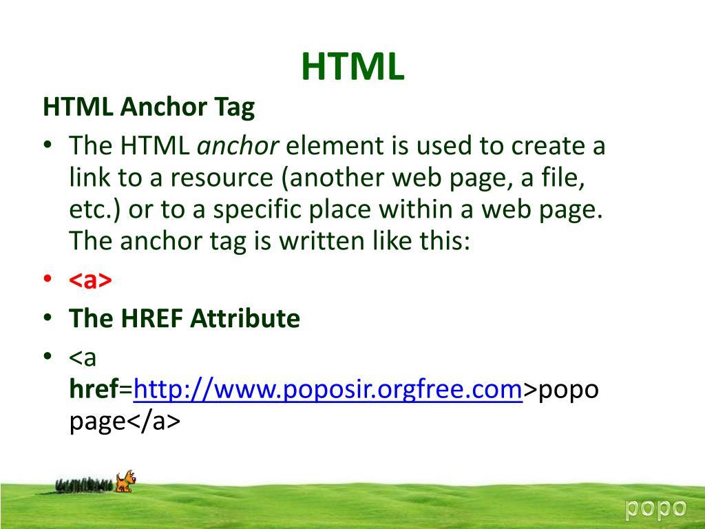 PPT - HTML PowerPoint Presentation - ID:1454425