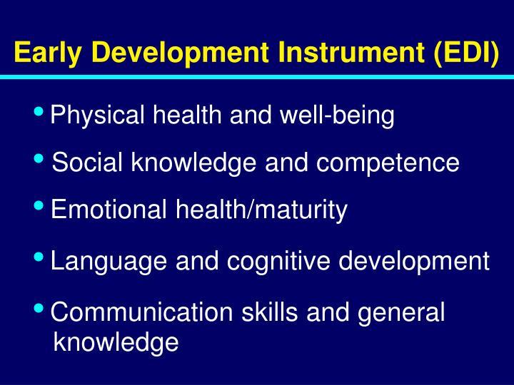 Early Development Instrument (EDI)