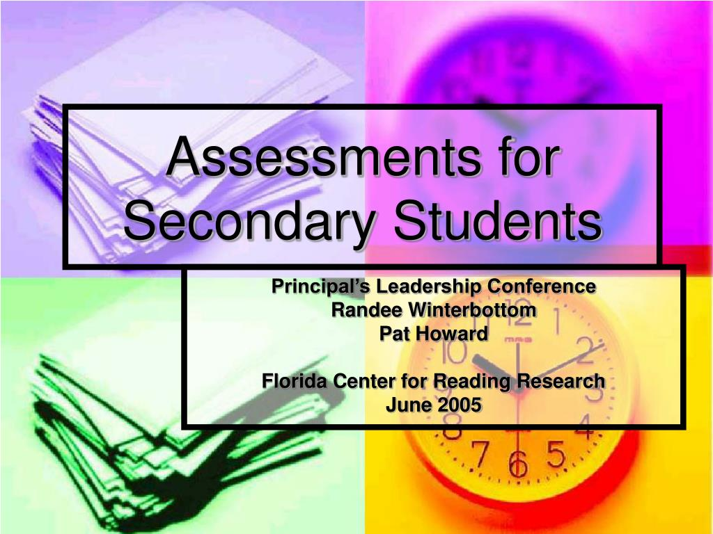 assessments for secondary students l.