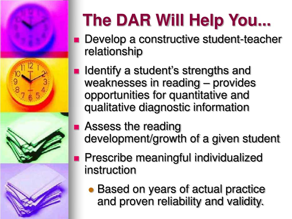 The DAR Will Help You...