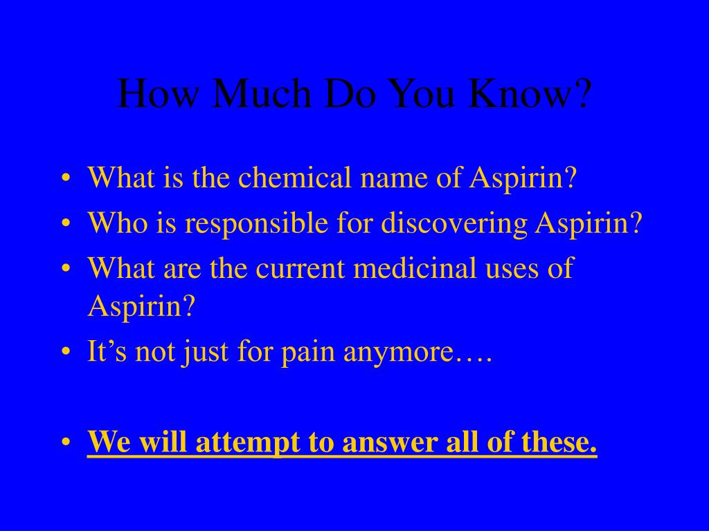 How Much Do You Know?