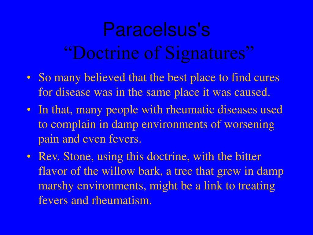 Paracelsus's