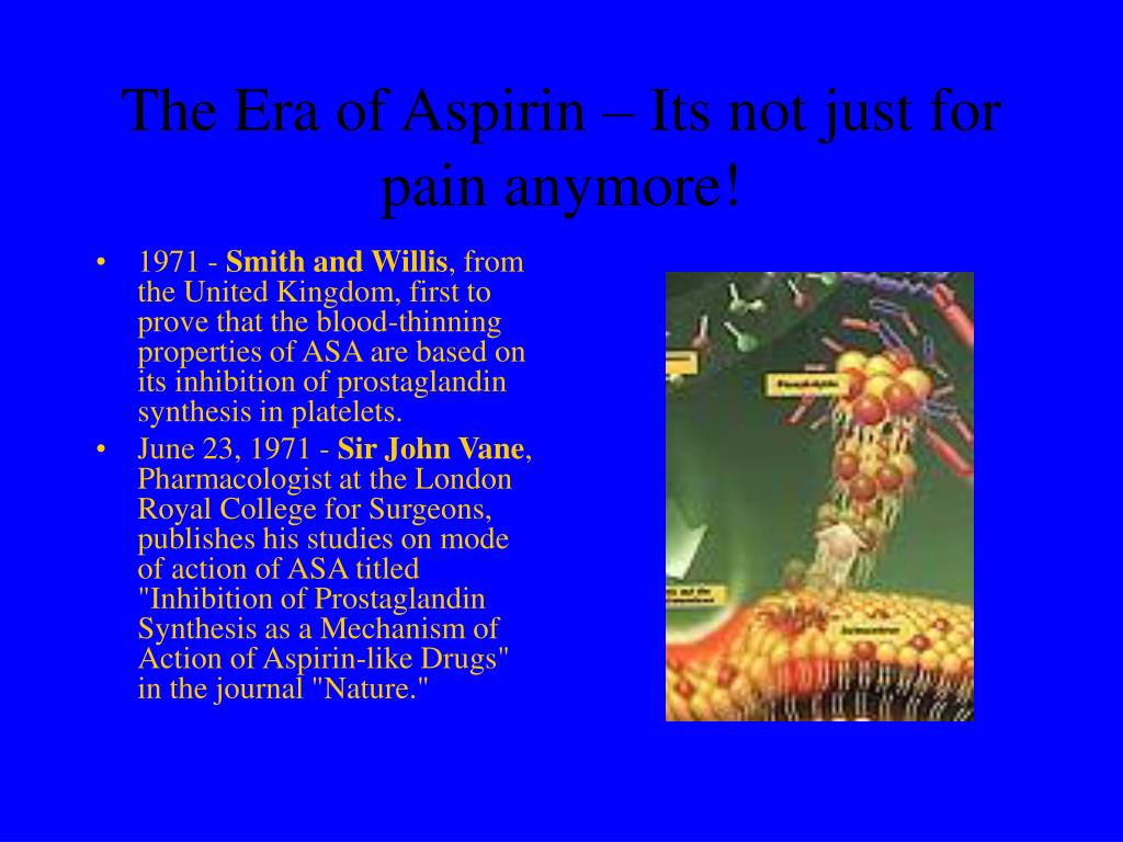 The Era of Aspirin – Its not just for pain anymore!