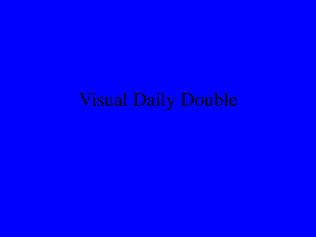 Visual Daily Double