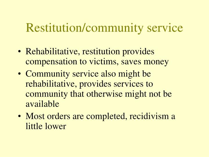 Restitution/community service