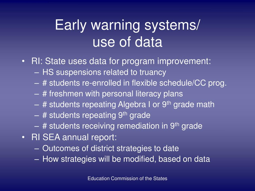 Early warning systems/