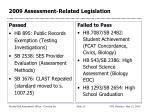 2009 assessment related legislation