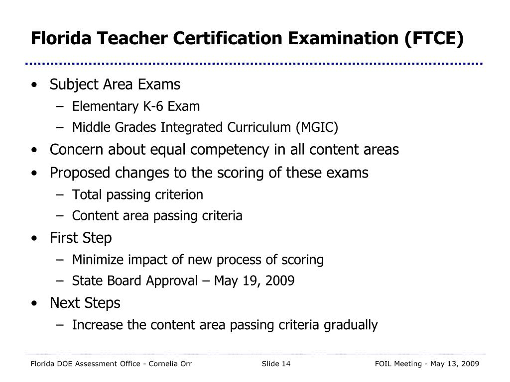 Ppt next generation assessments presented to foil 5 13 09 by florida teacher certification examination ftce xflitez Images