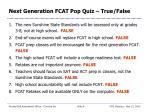 next generation fcat pop quiz true false8