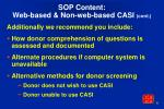 sop content web based non web based casi cont6