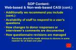 sop content web based non web based casi cont7