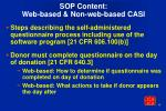 sop content web based non web based casi