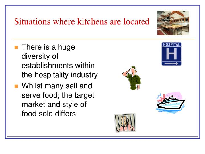 Situations where kitchens are located