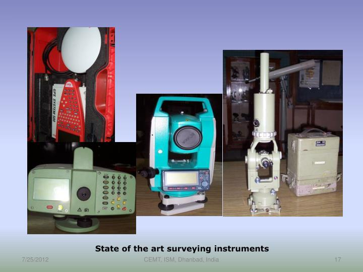 State of the art surveying instruments