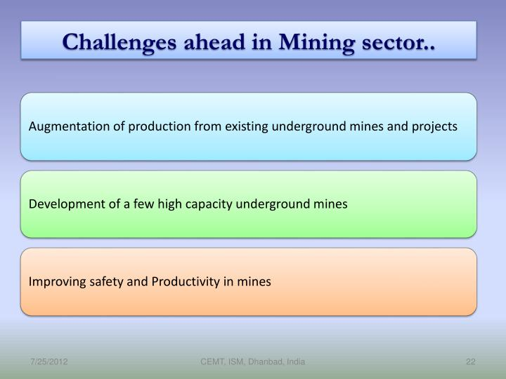 Challenges ahead in Mining sector..