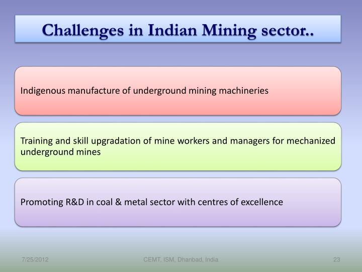 Challenges in Indian Mining sector..
