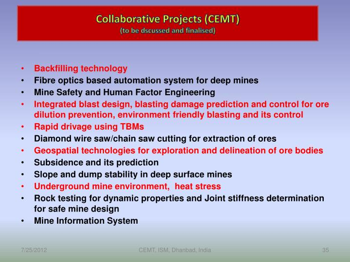 Collaborative Projects (CEMT)