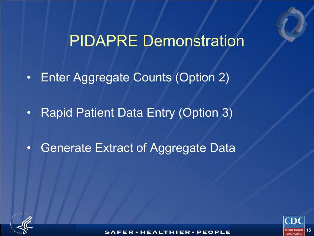 PIDAPRE Demonstration