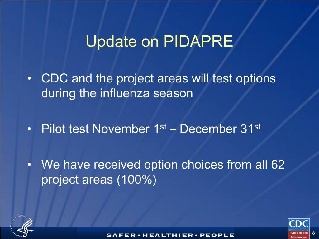 Update on PIDAPRE