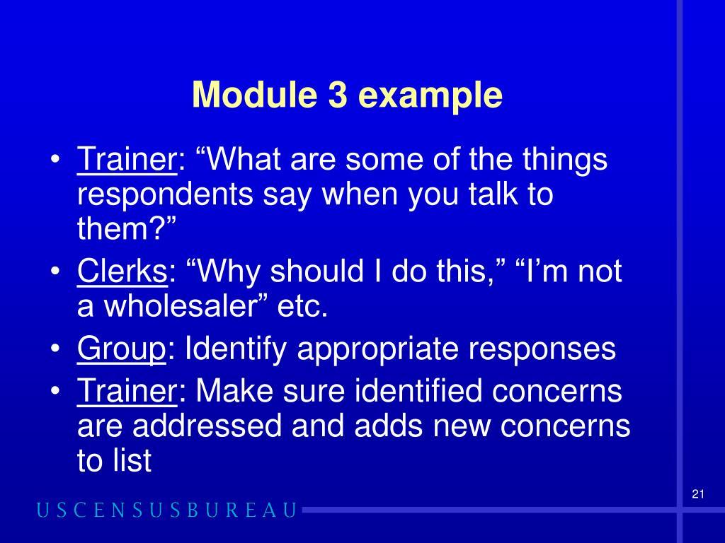 Module 3 example