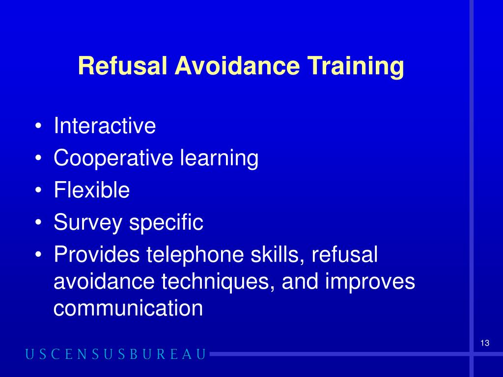 Refusal Avoidance Training