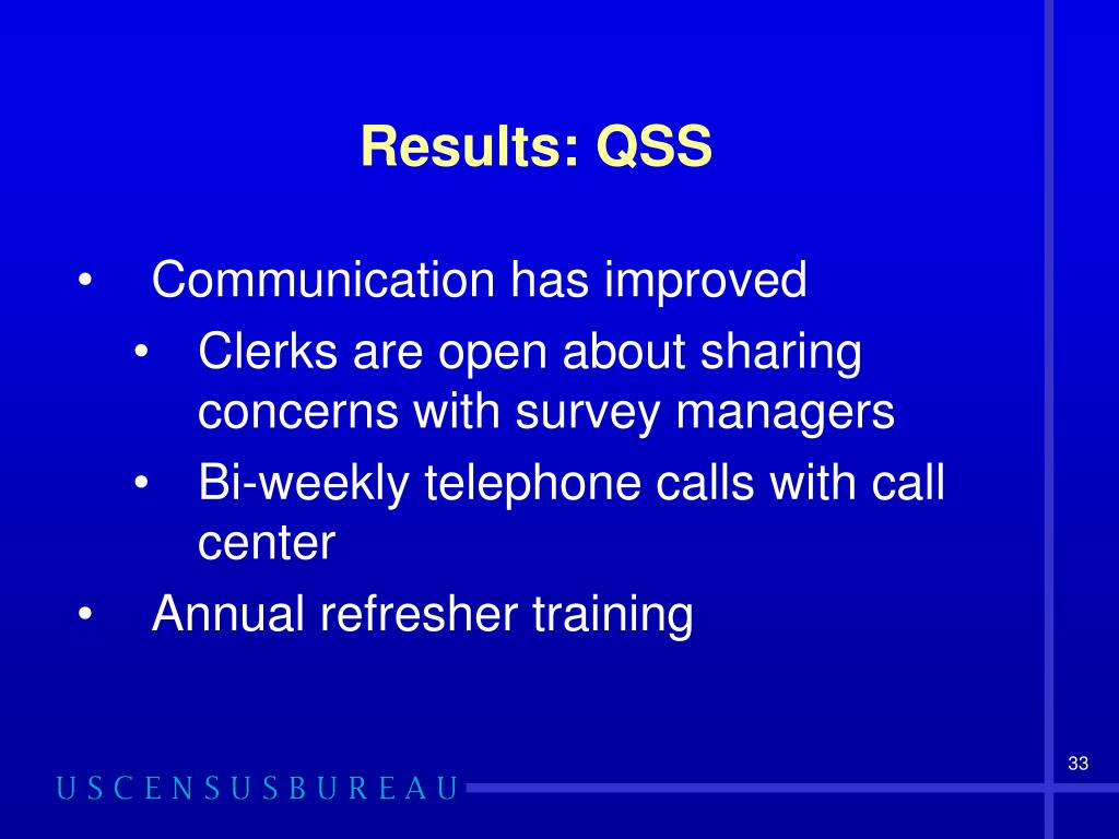 Results: QSS