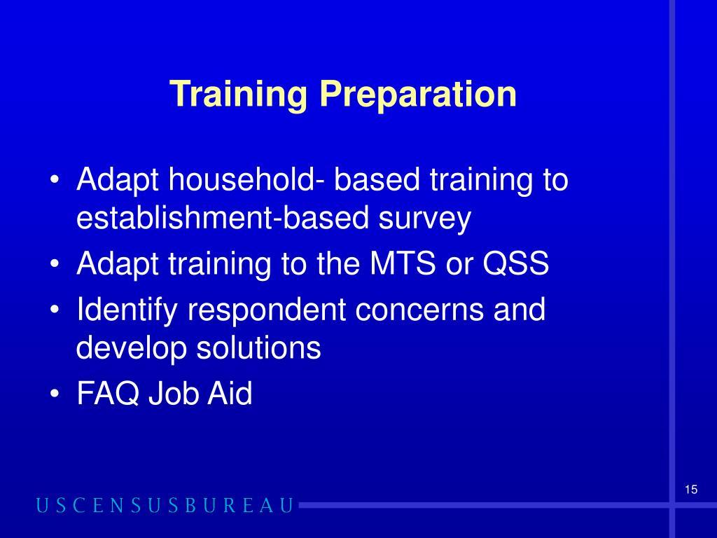 Training Preparation