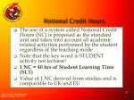 notional credit hours