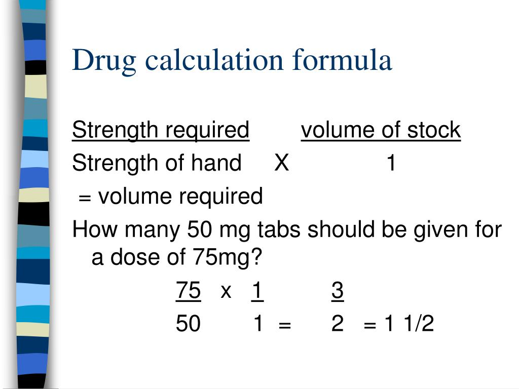 drug calculation formula l.