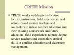 crete mission