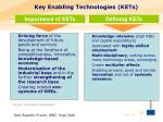 key enabling technologies kets