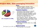 project seal sea leveraging innovation