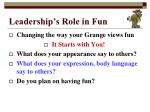 leadership s role in fun3