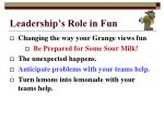 leadership s role in fun5