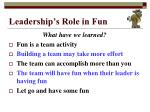 leadership s role in fun7