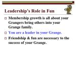 leadership s role in fun9