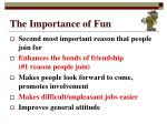 the importance of fun